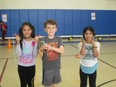 children with jump ropes