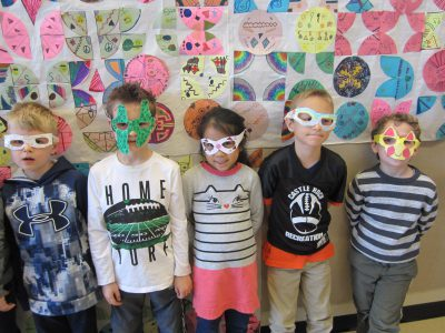 First grade students in their artistic sunglasses!