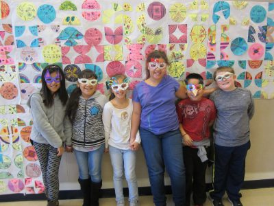 Third grade students in their beautiful sunglasses!