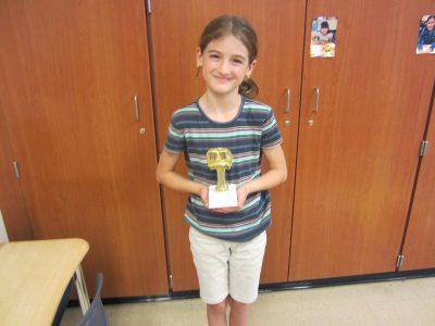 Third Grade Student Winner