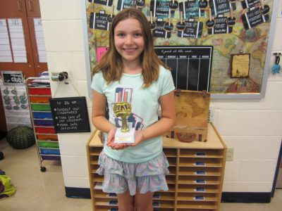 Fourth Grade Student Winner