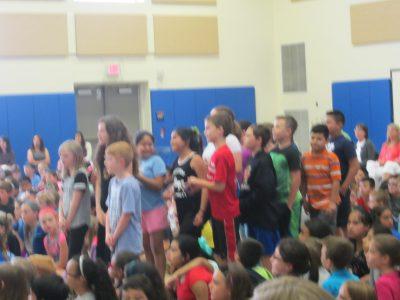 Students singing