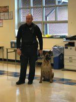 Police officer with K-9 dog