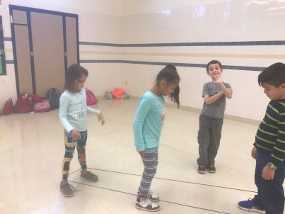 Students jumping rope
