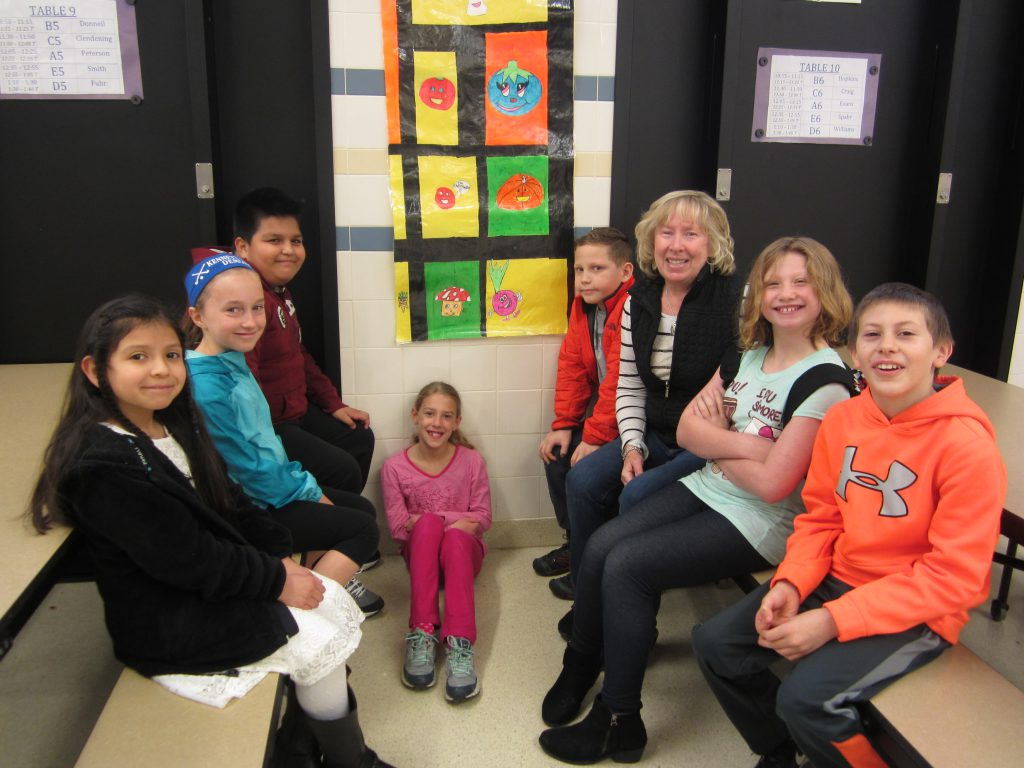 Art Club students and teacher