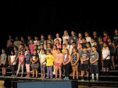 Student chorus singers