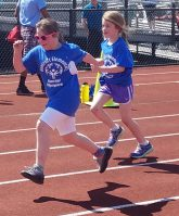 Students at relay race