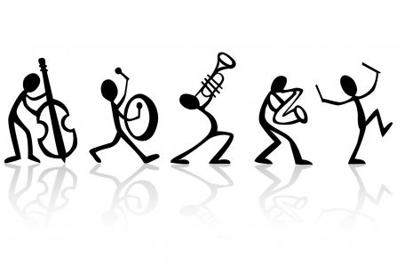 figures playing musical instruments